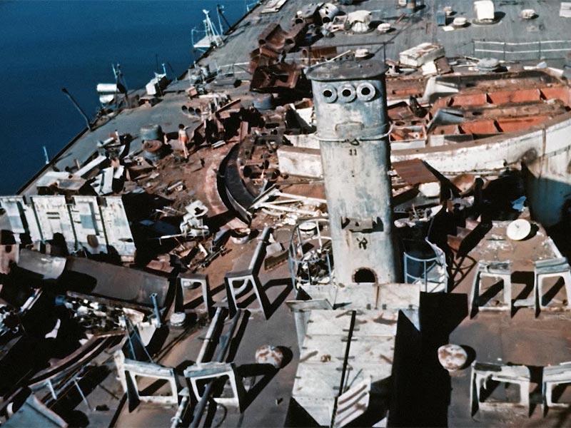 la vecchia corazzata C301 vista dall'alto