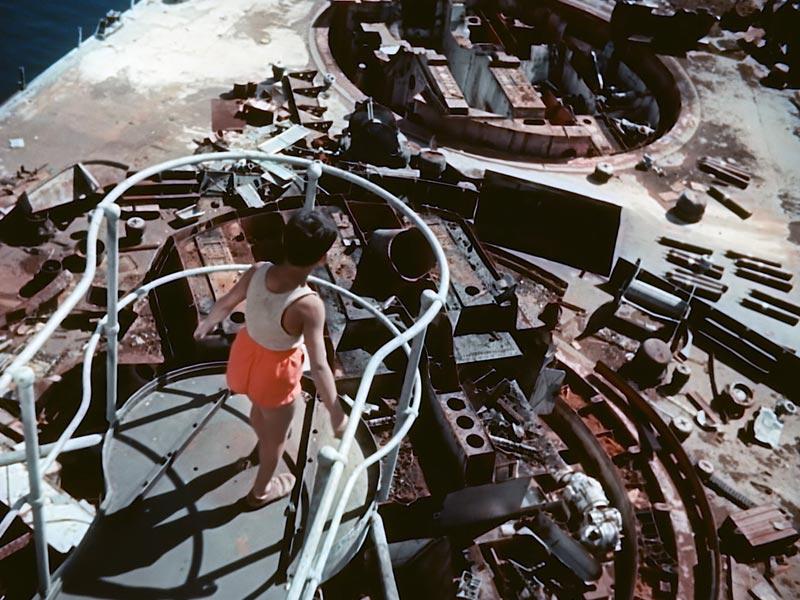 Il protagonista del documentario sopra la vedetta della corazzata C301