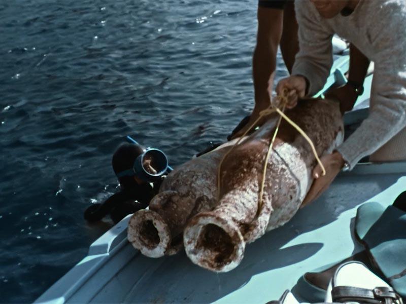 anfore ritrovate nel mare